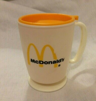 VINTAGE MCDONALD'S DASH BOARD COFFEE CUP~TRAVEL CUP ~WHIRLEY