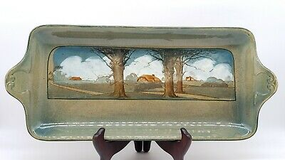 "Rare Antique Royal Doulton Arts And Crafts Art Pottery Tray Series Ware 17"" 1909"