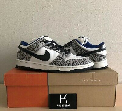 best website aac05 5630f Supreme Nike Dunk Sb White cement Low Limited Rare Size 10