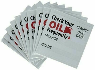 50+2 Free😲Oil Change Reminder Stickers Clear Static Cling Decals🔥 WOW 😍L👀K!