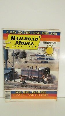 Railroad Model Craftsman Magazine August 1987 Special Summertime Issue eb2369