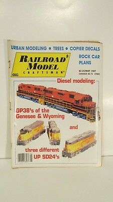 Railroad Model Craftsman Magazine May 1987 Diesel Modeling eb2367