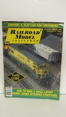 Railroad Model Craftsman Magazine September 1987 Flat Car For Containers eb2371