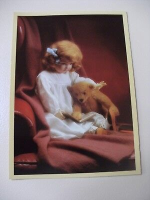 Blank Greeting Card - Porcelain Doll & Teddy