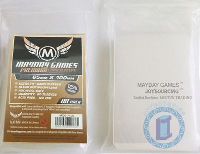 """80pcs/pack 125% thicker MDG-7106 """"7 Wonders"""" card sleeves for 65x100 Board Games"""