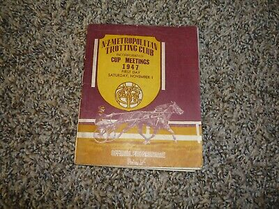 1947 NZ Met New Zealand Trotting Cup Meeting Horse Racing Programme Race Book
