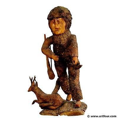 rustic black forest root wood hunter 1920