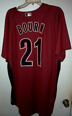 7ab14c7d8 MICHAEL BOURN (Houston Astros)  21 Game Used Worn Jersey