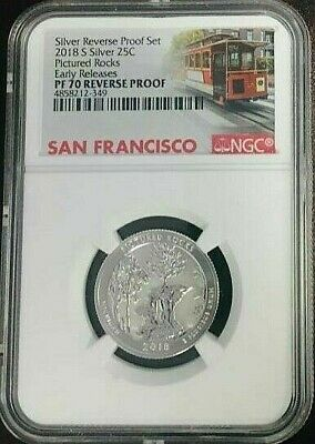 2018-S Silver 25C Pictured Rocks Quarter NGC PF70 REVERSE PROOF ER cable car