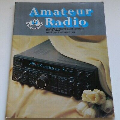 Amateur Radio Wia Mag. Oct89 Kenwood Ts-950Sd Icom Ic-275 475A 575H Yaesu Ft-990