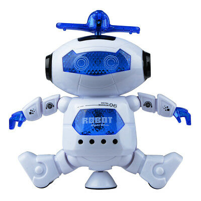Electronic Walking Dancing Robot with Light Kids Smart Space Robot Music Toys D
