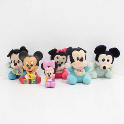 Collection of Disney's Baby Mickey and Minnie Mouse Plush Toys #710