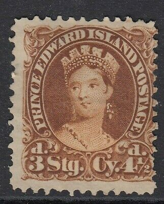 Prince Edward Is 1870 4 1/2d Yellow-Brown SG32 Fine & Fresh Unused