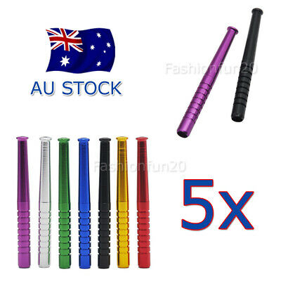 5x Metal Snuff Sniffer Snorter Straw Nasal Tube Snuffers Bullet Cigarette Holder