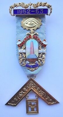Masonic Silver Past Master Jewel Scinde Lodge No 4284 1952