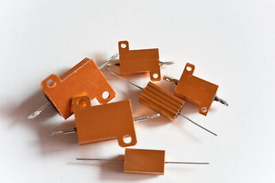 5W,10W&25W Golden Aluminium Load Resistor Wire wound Various Values - Good Valve