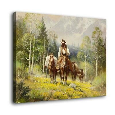 "16""x20""Western Cowboy Picture Home Decor HD Canvas prints Wall art painting"