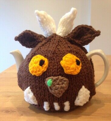 Hand knitted Gruffalo Inspired tea cosy. To Fit A 4-6 Cup (2 Pint) Tea Pot