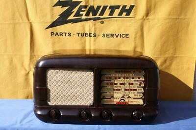 Magnificent & Rare Vintage Mottled Brown Bakelite Astor Valve Radio