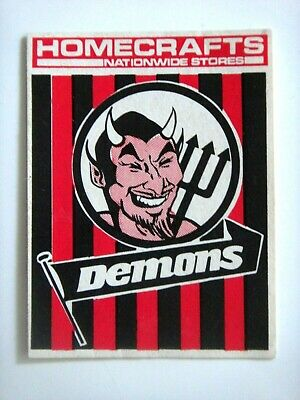 1976 Perth Demons Homecrafts Wafl Club Sticker.