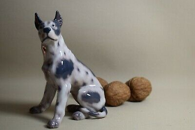 Dogge sitzend 13cm 1128  Dahl Jensen Great Dane Hund animal figurine dog chien