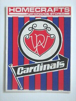 1976 West Perth Cardinals Homecrafts Wafl Club Sticker.