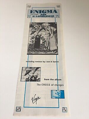 Enigma Age Of Loneliness 1994 Dutch Promo Advert Virgin Cross Of Changes