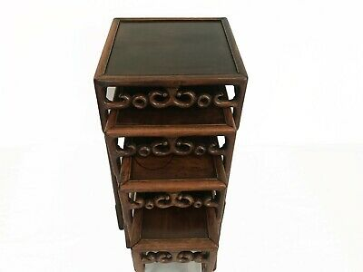 Antique Chinese nesting tables Padouk hard wood table China 19th Qing Stand