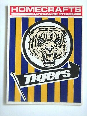1976 Claremont Tigers Homecrafts Wafl Club Sticker.