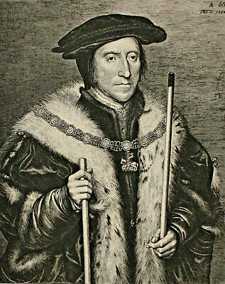 A Fine c19th Engraving, British Museum 1898, Thomas Howard, after Holbein