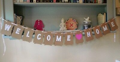 Welcome Home Bunting Banner Decoration