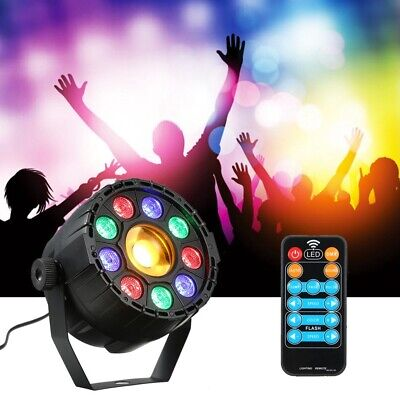 15W 10 LED Strobe Par Lamp RGB Yellow DMX Sound Remote Control Stage Light for D