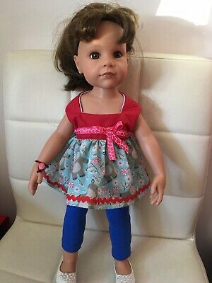 "Gotz,cayla 18"" Doll Summer Top And Leggings. Homemade"