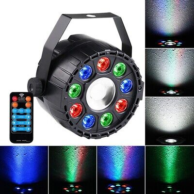 15W RGBW 10 LED Sound-activated Remote Control DMX Stage Strobe Light for Christ