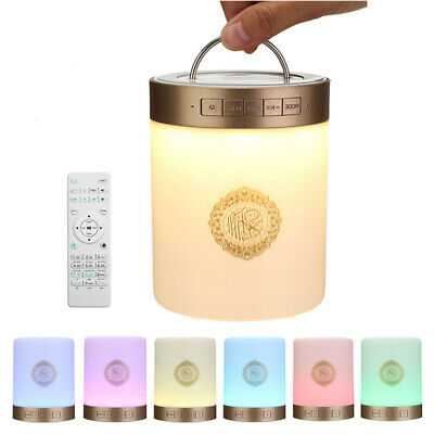 Quran SQ112 Portable LED Touch Lamp TF Card AUX Muliple Languages Bluetooth Spea