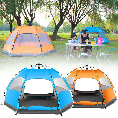 Outdoor 3-4 Persons Automatic Camping Tent Waterproof Double Layer UV Beach Suns