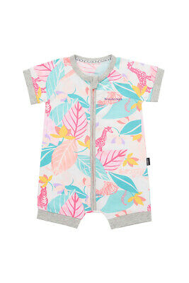 Bonds Baby Short Sleeve Zip Wondersuit Romper size 0000 Jungle Spy