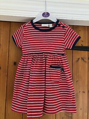 Jojo Maman Bebe Pink Stripe Jersey Dress 6-12 Months Clothes, Shoes & Accessories