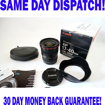 Canon EF 17-40mm f/4.0 L USM Ultra Wide Angle Zoom Lens - FREE SAME DAY DISPATCH