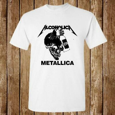 a803f583aa5 New Metallica Alcoholica Thrash Beer Band Logo New Unisex Usa Size T-Shirt  En1