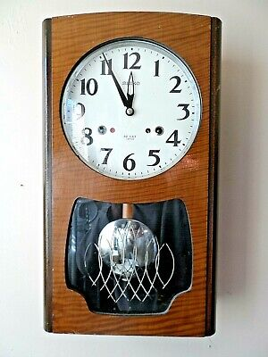 Vintage Seiko Wooden Cased 30 Day Chiming Mechanical Pendulum Wall Clock Gwo