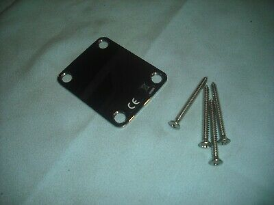 Fender c2013 Plain Neck fixing plate chrome. Clean used condition with screws
