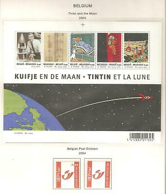 Belgium, Nice selection of stamps issued in 2004 (b) in MNH condition