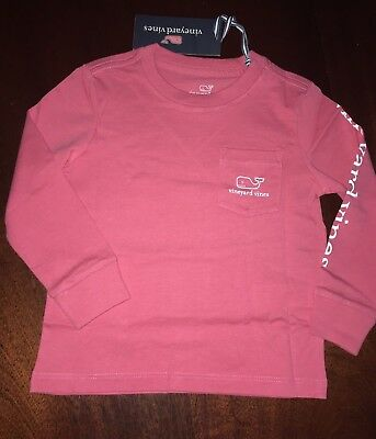 NWT 3T Jetty Red Vineyard Vines Whale Pocket Tee BOY or GIRL