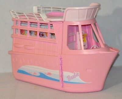 Vintage Pink Barbie Cruise Ship Party Ship Fold Out Playset 1118!!!