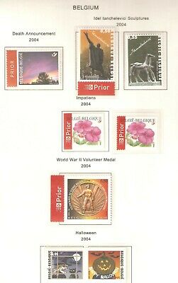 Belgium, Nice selection of stamps issued in 2004 (e) in MNH condition