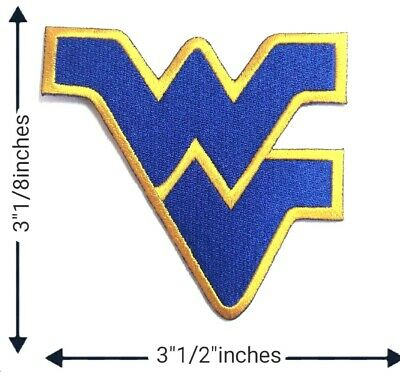 West Virginia university Sports Patch Logo Embroidery Iron on,Sewing on Clothe