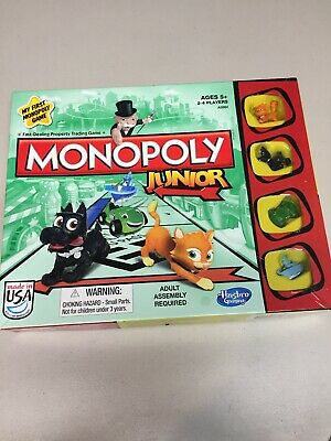 2013 My First Monopoly Game Junior Board Game Complete.