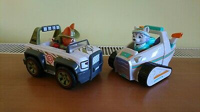 Paw Patrol Vehicles Bundle, Jungle Tracker and Snowmobile Everest.