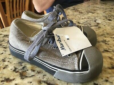 MORGAN & MILO boys Girls GRAY SNEAKERS SHOES* Youth Kids 7.5 Suede